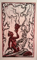 Strange Fruit, 2013, relief print on paper, 13 by 19.5 ""