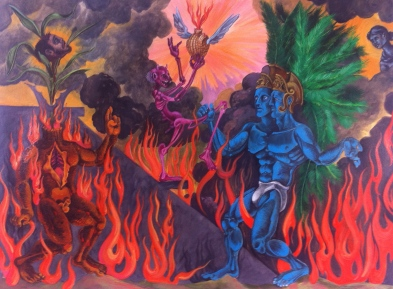Resurrection of the Father, 2015, watercolor on paper, 18 by 24""