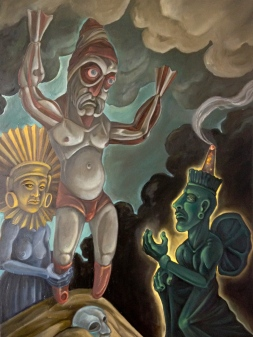 Presentation at the Temple, 2014, oil on canvas, 30 by 40""