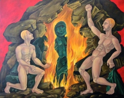 "Redemption (or Resurrrection) of the Father 2013 40 by 50 "" oil on canvas"