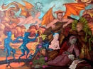 Temptation of St. Anthony of the Desert  2013 oil on canvas 36 by 48 ""