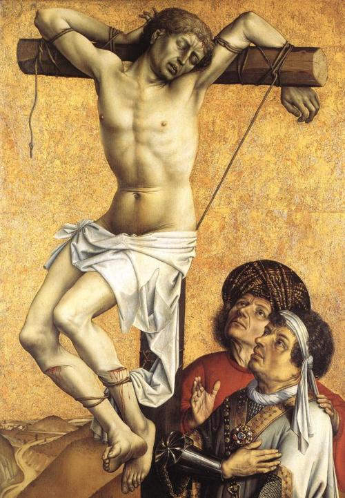 master of flemalle:crucified thief:1410:frankfurt