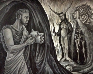 The Temptation of St. Anthony of the Desert II 2014 Oil on canvas 16 by 24 inches Private Collection