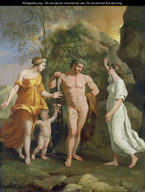 choice of hercules:poussin copy