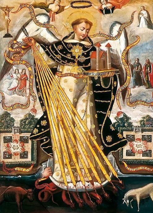 Santo Tomas de Aquino, Protector de la Universidad de Cuzco, 17th century. (via Pinterest)