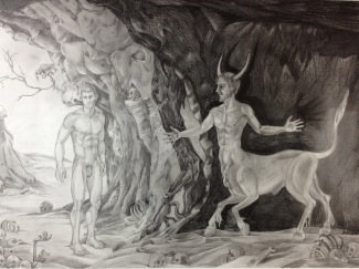 Theseus, 2012, graphite on paper