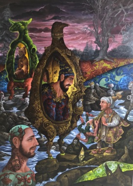 The Conversion of St.Paul on the Road to Damascus 2019 Oil on canvas 48 by 36 inches